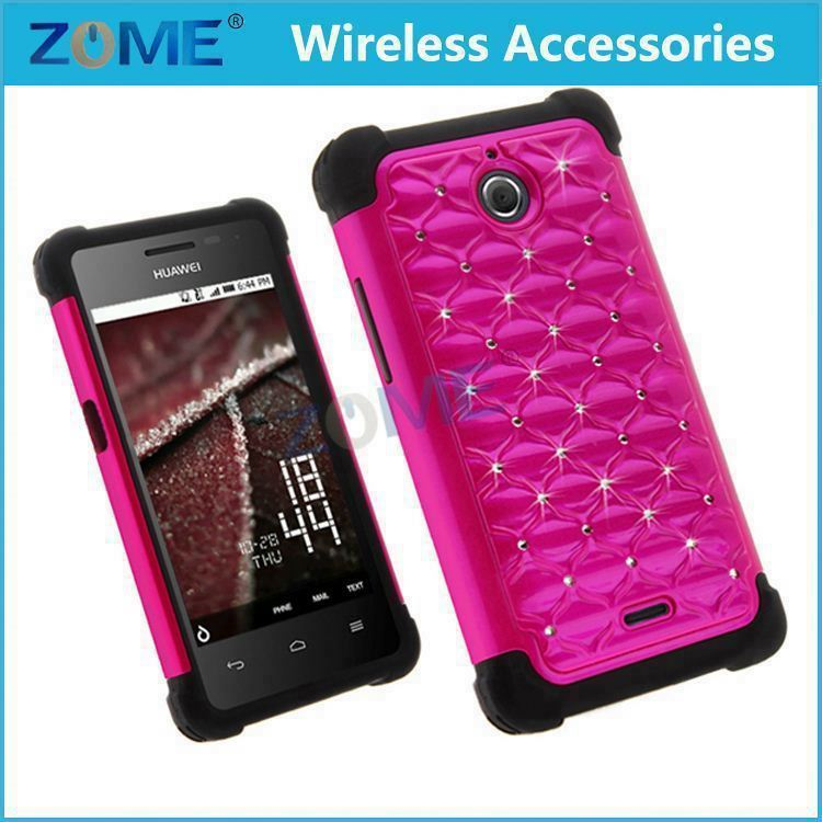 Mobile Accessories Silicone Case For Huawei Y301 Heavy Duty Armor For Lg Volt Ls740 Diamond Hybrid Hard + Soft Cover