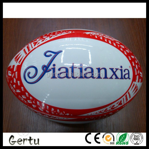 High quality standard size machine stitched rugby ball