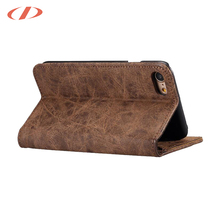 Retro Vintage CrazyHorse pattern Embossed leather case for iphone cover production in china for iphone 6 plus case new year