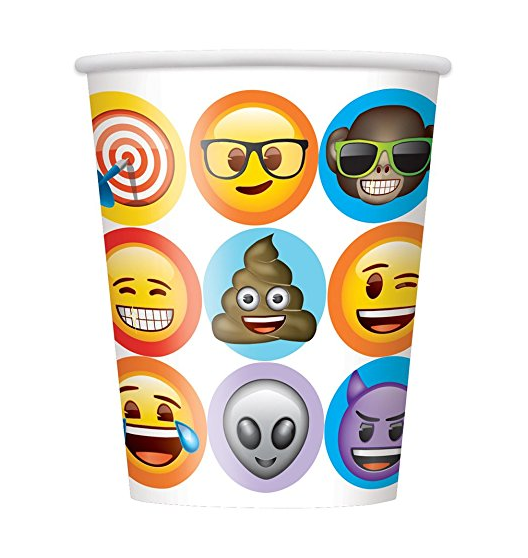 various sizes Emoji design printed disposable paper cup cool hot drink paper cup