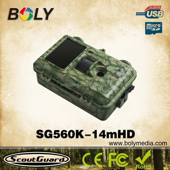 Hot new product 2016 SG560K-14mHD night vision hunting video camera with 14MP