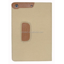 Hot Selling leather case for mini ipad smart cover with folding stand