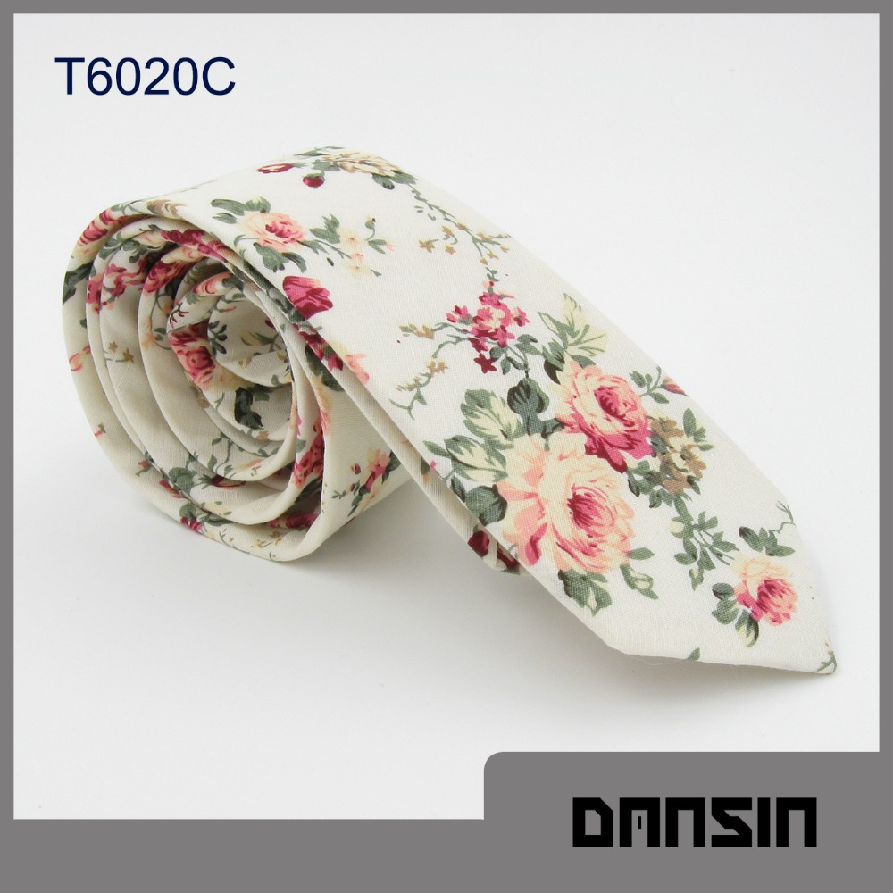Fashion Design New Arrival Mens Cotton Floral Tie