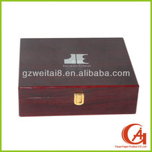PU leather jewelry box jewelry paper boxes with key lock