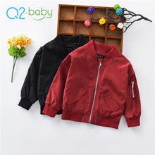 Q2-baby New China Products Autumn Children Fashion Sports Design Bomber Coat Jackets