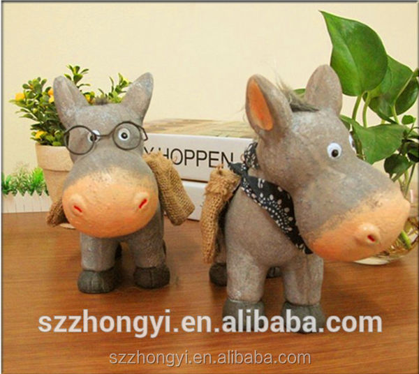 2014 China Supplier hot new products decoration donkey wholesale plaster craft for paint