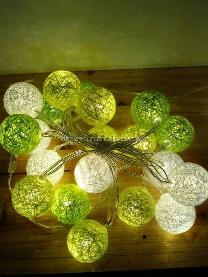 2016 decoration led cotton ball string light