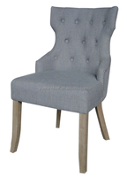 Upholstered Dining Chair with studs and buttons