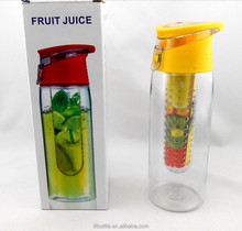 pet water bottle shaker teapot infuser with color