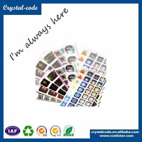 Custom holographic printing 3d hologram sticker