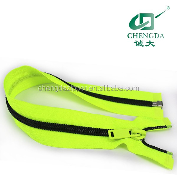 nylon metal and plastic zipper for all kinds of garment