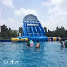 Cheap giant commercial garden kids inflatable wholesale water slide