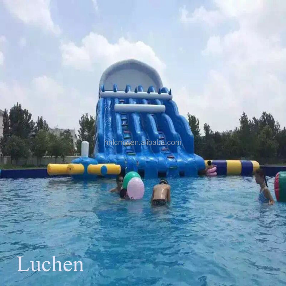 Giant Commercial Garden Kids Inflatable Wholesale Water Slide