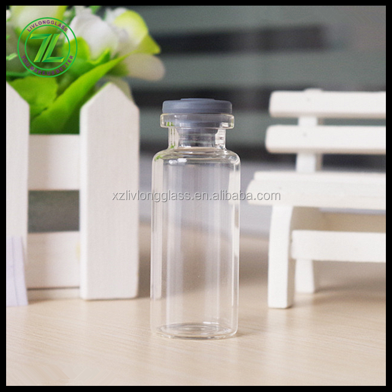 24mm D 60mm H glass tubular vial glass tube