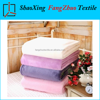hot sale export flannel fleece blanket soft warm plain blanket throw