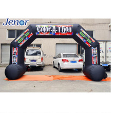 Cheap Advertising Inflatable Black Arch for Marathon Racing Event