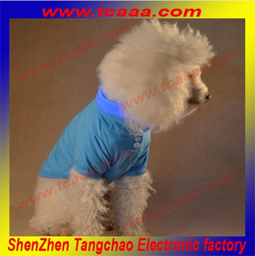 Plain Color led flashing brand dog clothes dog t-shirt pet clothes