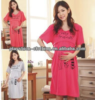 ladies korean cute 100%cotton dress Maternity for pregnant women