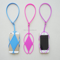 Universal Silicone Lanyard Case Cover Phone Holder Sling For iphone 4/5/6 4.7""