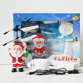 Christmas gift flying toys christmas santa claus induction rc toys with speed up remote controller