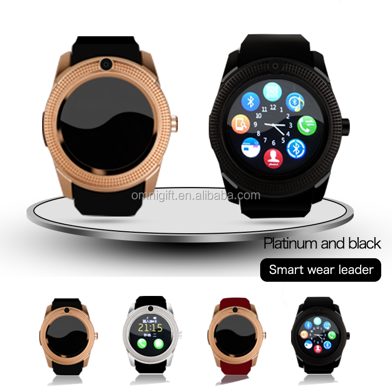 V8 factory Bluetooth Smart Wrist Watch Phone Mate For IOS Android all handPhones