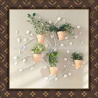wholesale handicraft metal wall mounted plant pots wrought iron wall planter