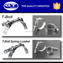 C04 Hot sale SS304/316 constant tension spring loaded T bolt automotive stainless steel hose clamp, hose clamp
