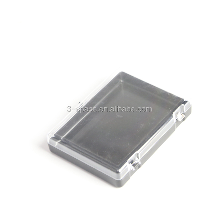 hinged lid plastic presentation case for lapel pin badge medal
