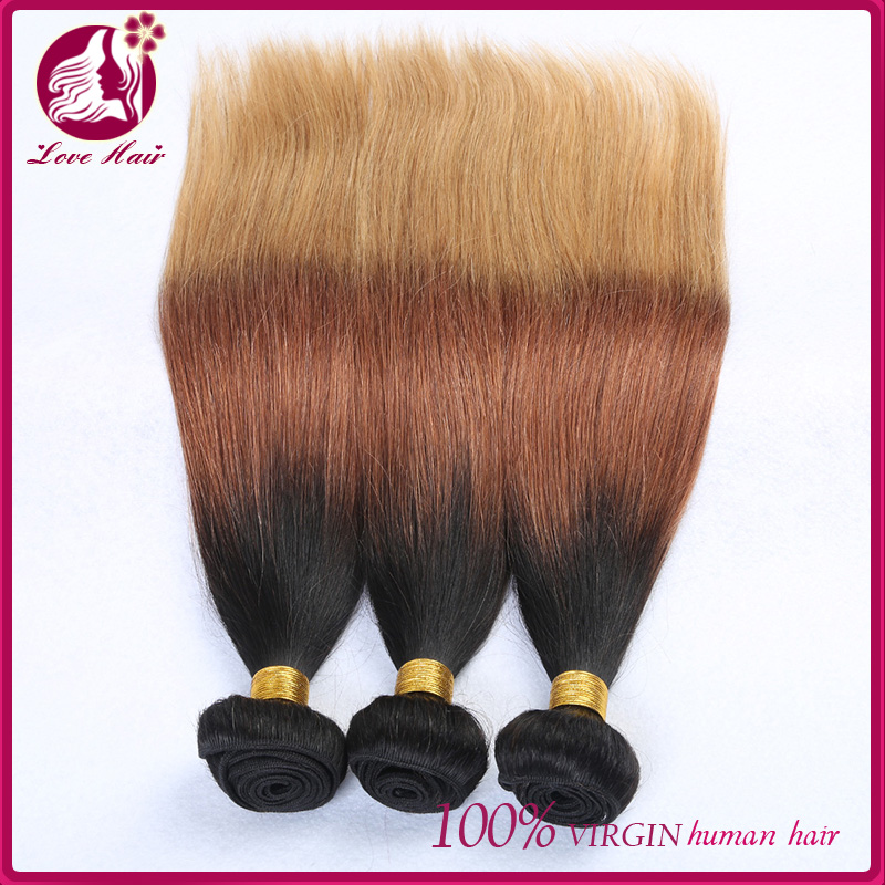 #4/613 two tone ombre colored used hair weave bundles unprocessed easy hairstyles for straight hair