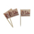 Bambu pick up white toothpick flags with logo
