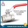new bonnet 600wog CE double nipple aluminum handle iron but copper ball brass stem brass ball valve for water oil gas in TMOK