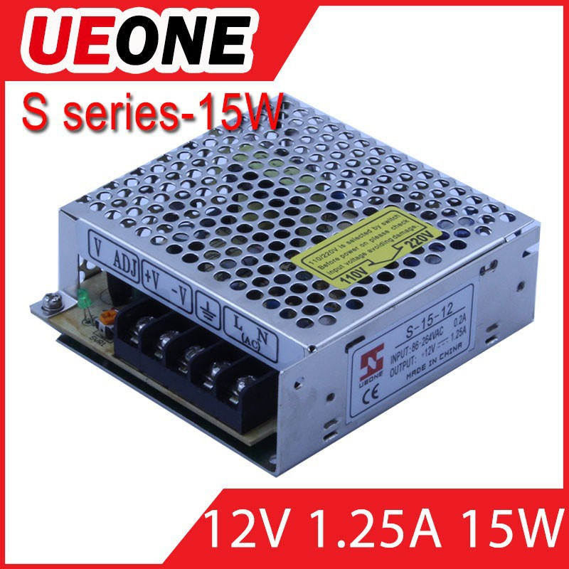 made in china 15W led driver for indoor lighting 12v1.25a S-15W LED power supply