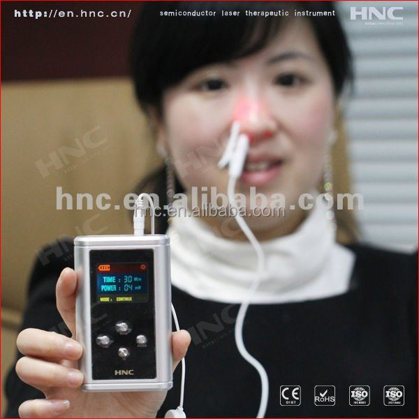 2015 NEWEST Reduce total cholesterol laser therpy Machine rhinitis treatment device