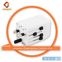 Shanghai alibaba supplier universal travel ac power adapter with 2 usb port electrical switch