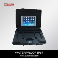 TSUNAMI professional hard waterproof plastic carrying case for ipad