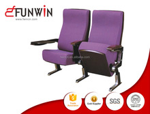 Fixed aluminium frames material theater chair seatings