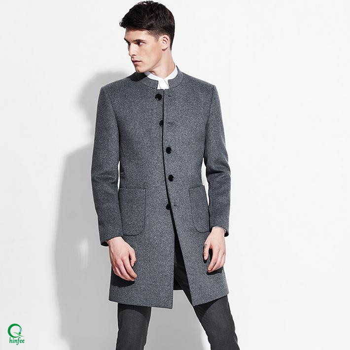 SCM040 Long Design Business Fancy Winter Men Coat Model