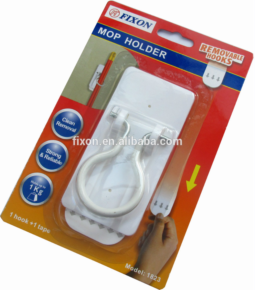Hot selling!!! multi-function wall hook household mop and broom holder