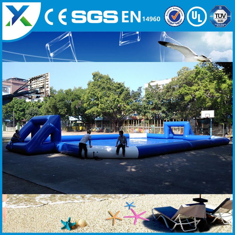 Inflatable soap soccer field sport games/inflatable water football pitch