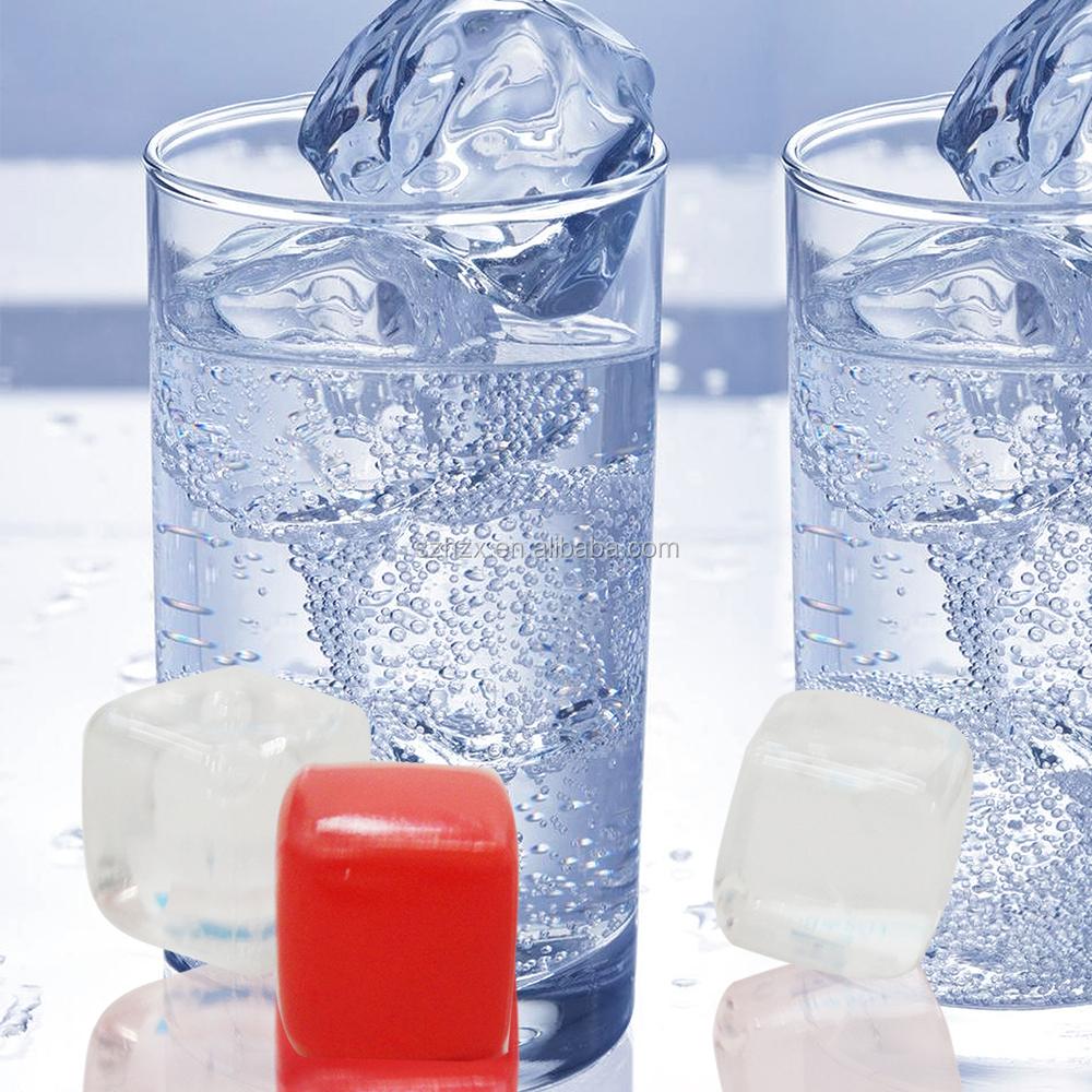 High quality reusable plastic ice cubes transparent