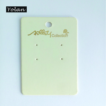 Paper Ear Stud card, Logo Printed Earring Card, Cheap Plastic cards