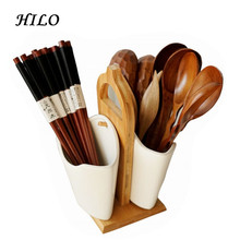 Double-sided hanging ceramic kitchen utensils set