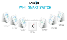 Lanbon smart home automation module 1-3 gangs wifi controlled power switch smart touch power switch