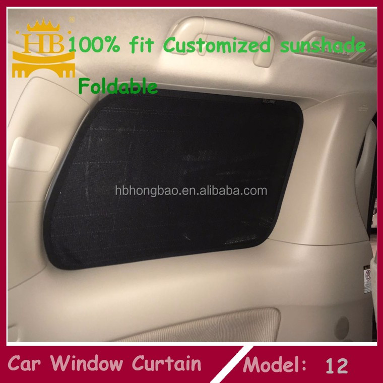 4pcs/set customized car window curtain mesh fabric magnetic car sunshade