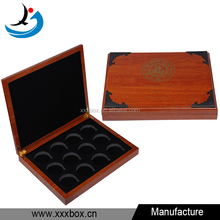 Custom logo printed wood coin packaging box wholesale