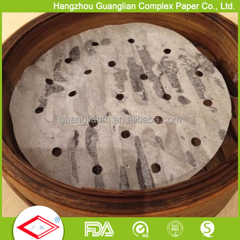 Non-stick Silicone Coated Food Steamer Paper with Holes