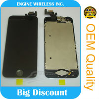 Hot selling OEM mobile phone touch screen for iphone 5 lcd for iphone5