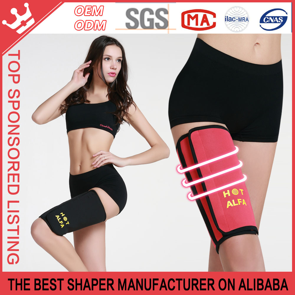 Sauna Leg Slimming Shaper Exercise Burn Fat Thigh Slimmer Wrap Belt For Sports P185