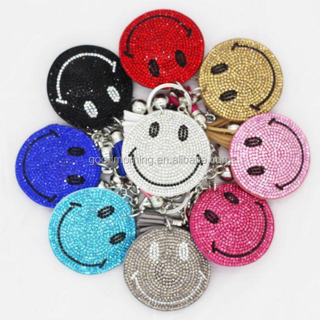 Lovely South Korea Velvet Tassel Smile Key Chain