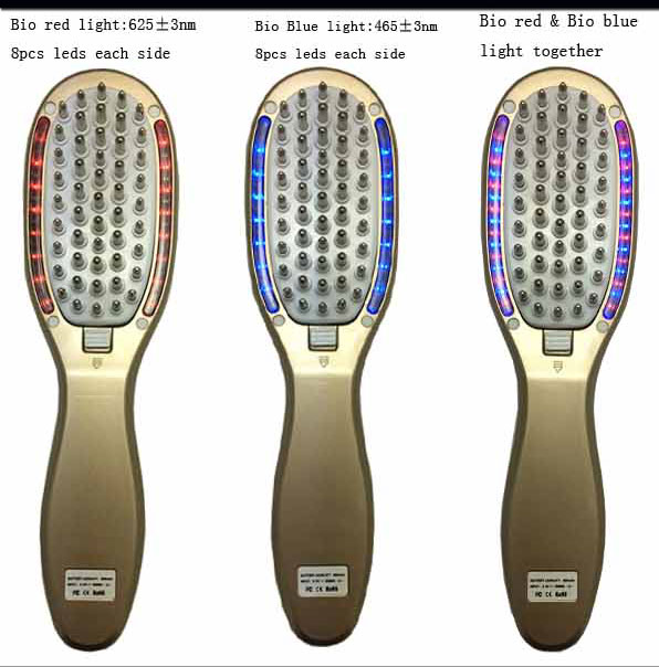 Led light therapy anti hair loss hair regrowth products magic hair comb Personal skin care man use